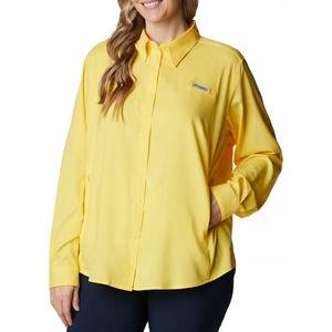 Columbia Yellow Windbreaker Fishing Shirt Large